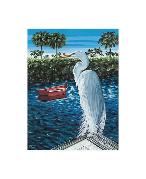 "Trademark Global Carolee Vitaletti Peaceful Heron II Canvas Art - 37"" x 49"""