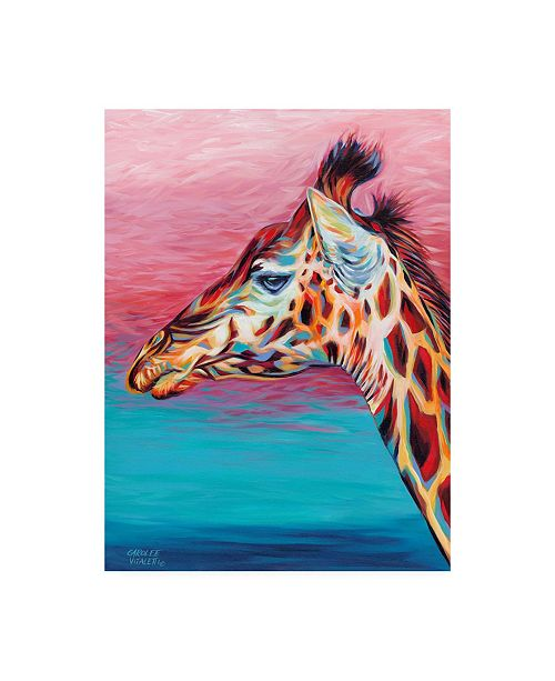 "Trademark Global Carolee Vitaletti Sky High Giraffe II Canvas Art - 15"" x 20"""