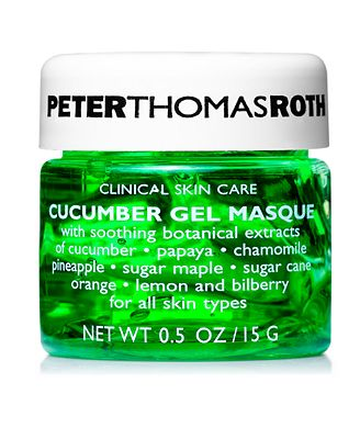Receive a Complimentary Cucumber Gel Masque sample with $50 Peter Thomas Roth purchase