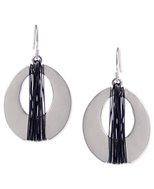 Kenneth Cole New York Earrings, Two-Tone Oval Drop Earrings