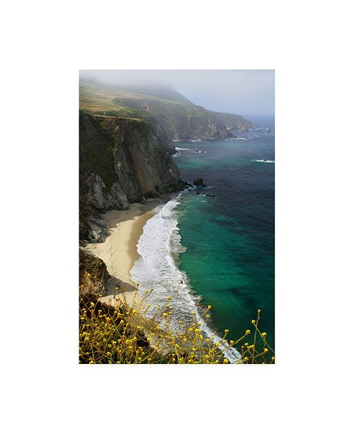 "Trademark Global Winthrope Hier Big Sur Coast Mountain Canvas Art - 27"" x 33.5"""
