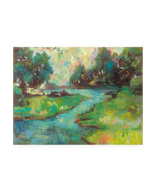 "Trademark Global Jeanette Vertentes Landscape in the Parks River Canvas Art - 15.5"" x 21"""