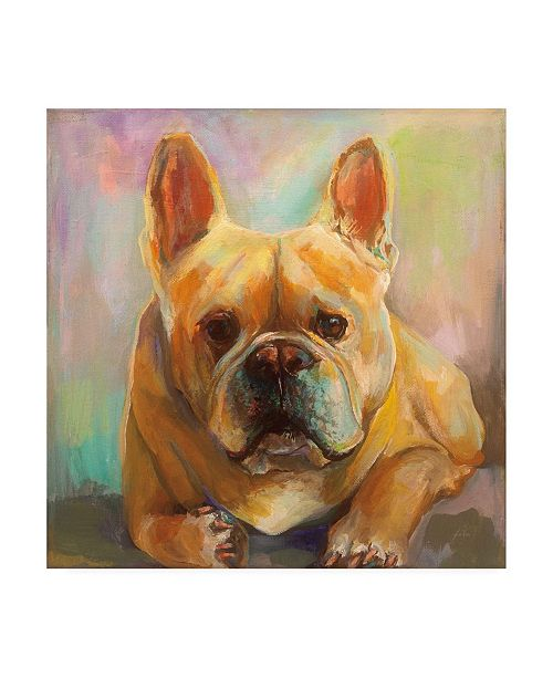"Trademark Global Jeanette Vertentes Frenchie Painting Canvas Art - 36.5"" x 48"""