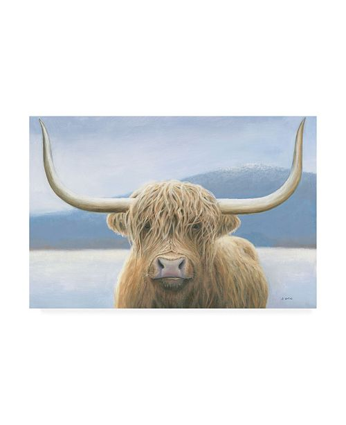 "Trademark Global James Wiens Highland Cow Canvas Art - 27"" x 33.5"""