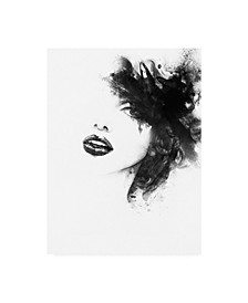 "Incado Shadow Girl Canvas Art - 15.5"" x 21"""