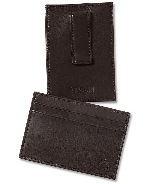 064a4abdc58 Lauren Ralph Lauren Lauren by Ralph Lauren Burnished Leather Card Case with Money  Clip
