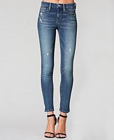 Mid Rise Regular Hem Ankle Skinny Jeans