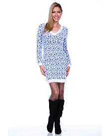 Women's Angora Like Sweater Dress