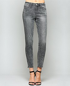 Mid Rise Tuxedo Crop Skinny Jeans