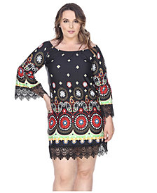 White Mark Women's Plus Size Rakel Dress
