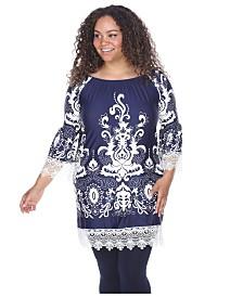 White Mark Women's Plus Size Uniss Dress