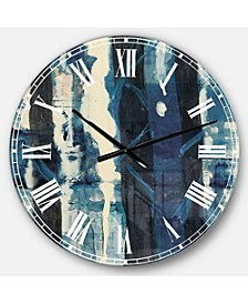 Country Charm Oversized Metal Wall Clock