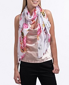 Sketchy Rose Garden Oblong Scarf