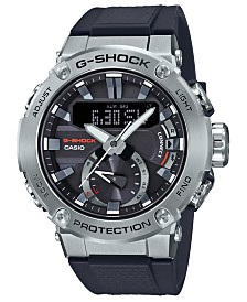 G-Shock Men's Solar Analog-Digital Black Resin Strap Watch 49.2mm