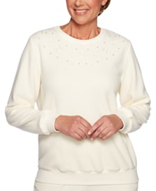 Alfred Dunner Classics Embroidered-Yoke Top