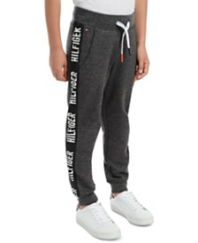 Tommy Hilfiger Little Boys Shango Side Stripe Fleece Sweatpants