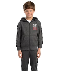 Tommy Hilfiger Little Boys Wyatt Full-Zip Fleece Logo Hoodie