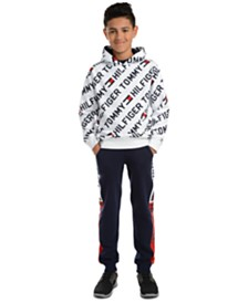 Tommy Hilfiger Big Boys Jayden Fleece Logo Hoodie & Chaka Logo-Panel Fleece Sweatpants