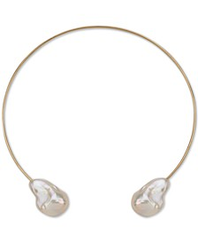 "Cultured Baroque Freshwater Pearl (14-18mm) 14"" Choker Necklace in 14k Gold"