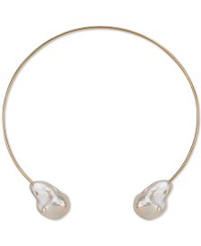"""Cultured Baroque Freshwater Pearl (14-18mm) 14"""" Choker Necklace in 14k Gold"""