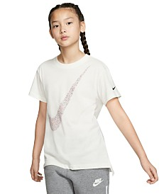Nike Big Girls Cotton Logo-Print T-Shirt