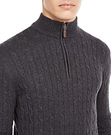 Men's Pima Cable Quarter-Zip Sweater, Created for Macy's