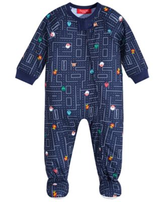 Matching Baby Race for Presents Footed Pajama, Created for Macy's