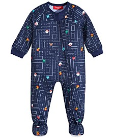 Matching Family Pajamas Baby Race for Presents Footed Pajama, Created for Macy's