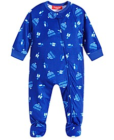 Matching Baby Let The Good Times Roll Hanukkah Footed Pajamas, Created for Macy's
