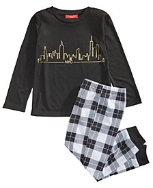 Matching Kids NYC Skyline Pajama Set, Created for Macy's