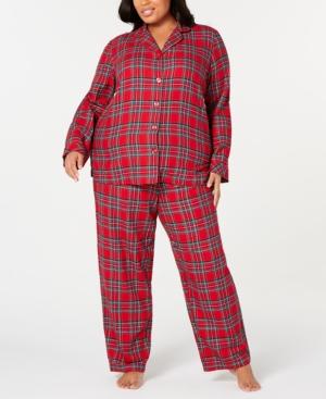 Matching Plus Size Brinkley Plaid Family Pajama Set