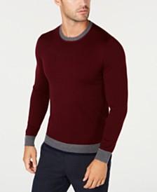 Tasso Elba Men's Merino Sweater, Created for Macy's