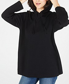 Organic Cotton Solid Black Hoodie, Regular & Petite