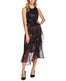 Vince Camuto Sleeveless Floral-Print Maxi Dress
