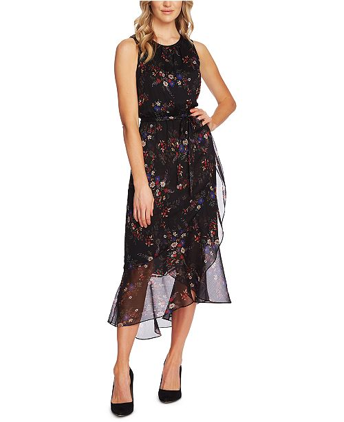 Vince Camuto Sleeveless Floral-Print Maxi Dress