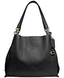 COACH Polished Pebble Leather Dalton 31 Shoulder Bag