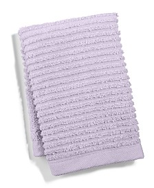 Martha Stewart Collection Quick Dry Reversible Wash Towel, Created for Macy's