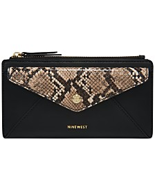 Nine West Kate Slim Zip Organizer Wallet