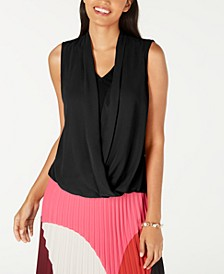Draped-Front Sleeveless Top, Created for Macy's