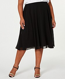 Plus Size Midi-Length Skirt