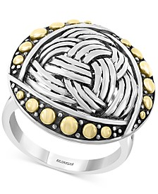 EFFY® Braided-Look Statement Ring in Sterling Silver & 18k Gold