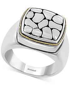 EFFY® Crackle Statement Ring in Sterling Silver & 18k Gold