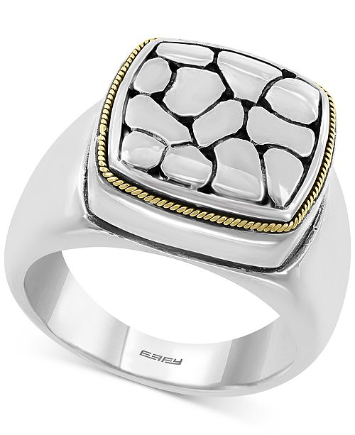 EFFY Collection EFFY® Crackle Statement Ring in Sterling Silver & 18k Gold