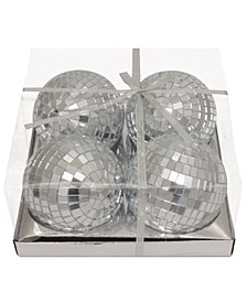 4 Inch Mirror Balls,  4 Pieces