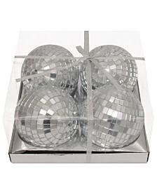 Kurt Adler 4 Inch Mirror Balls,  4 Pieces