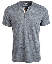 Men's Heathered Short-Sleeve Henley, Created for Macy's