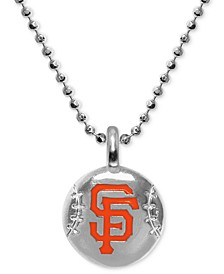 """San Francisco Giants 16"""" Pendant Necklace in Sterling Silver"""