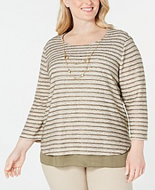 Plus Size Cedar Canyon Layered-Look Necklace Top
