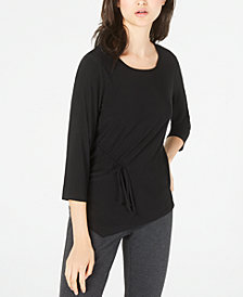 NY Collection Petite Side-Tie Top