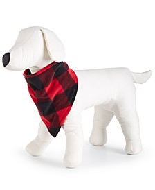 Matching Buffalo-Check Fleece Pet Bandana, Created for Macy's